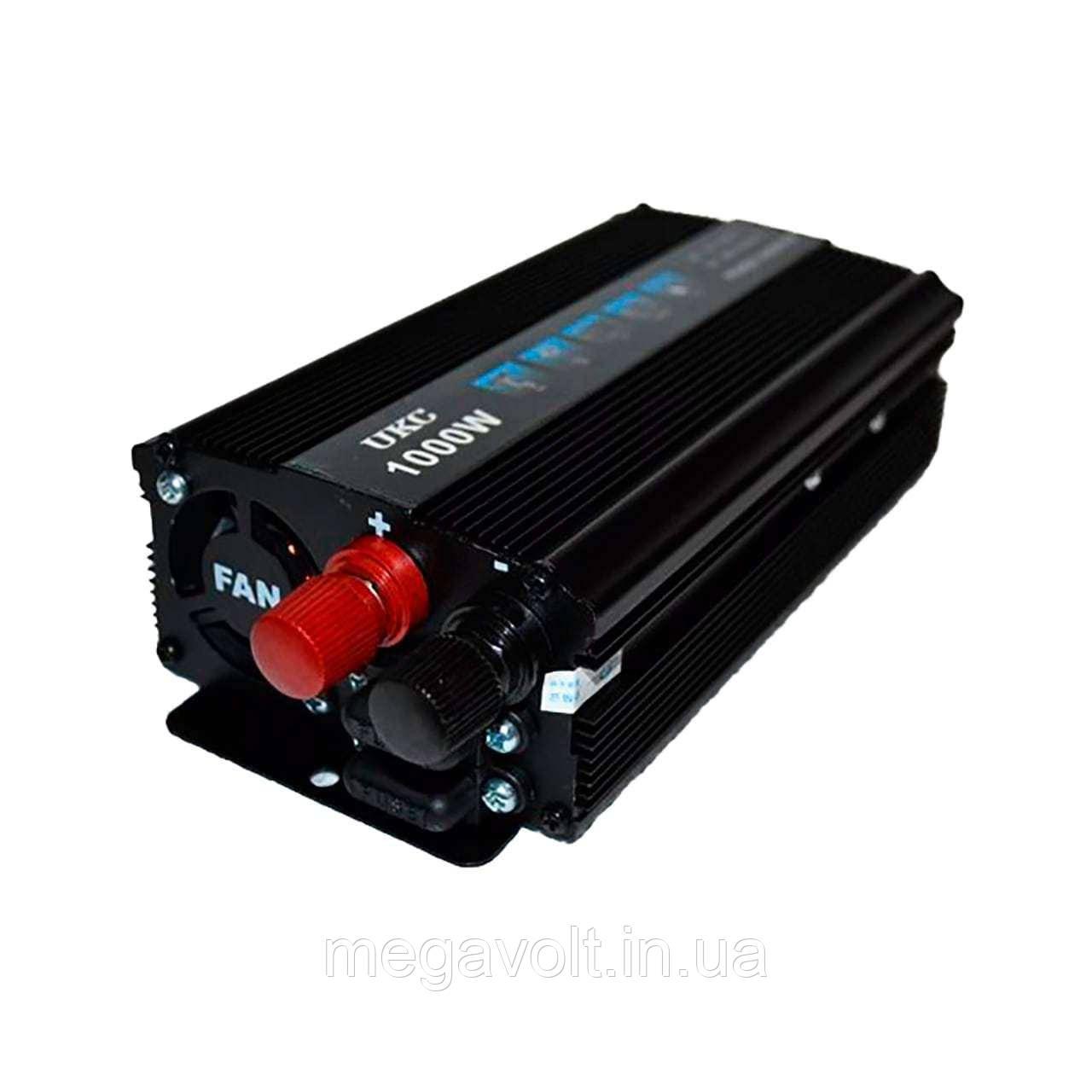 Инвертор. Преобразователь напряжения 12v-220v 1000W UKC