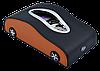 Салфетница SUBARU в автомобиль на торпеду  с ячейками под номер телефона (черная кожаная с коричневыми, фото 2