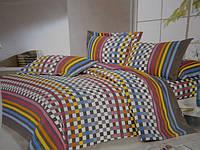 Сатиновое постельное бельё двухспалка с рисунком