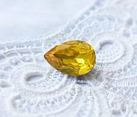 Стразы Капля 10х14 мм, желтый опал