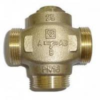 Трехходовой  клапан HERZ 1 дюйм 55 градусов с отключаемым байпасом