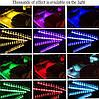 9 LED RGB подсветка салона светодиодная с пультом  и микрофоном (реагирует на звук) 16 цветов, фото 7