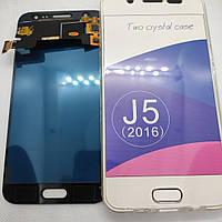 Дисплейный модуль, тачскрин Samsung Galaxy J5 2015 год j500fn, j500f черный, фото 1