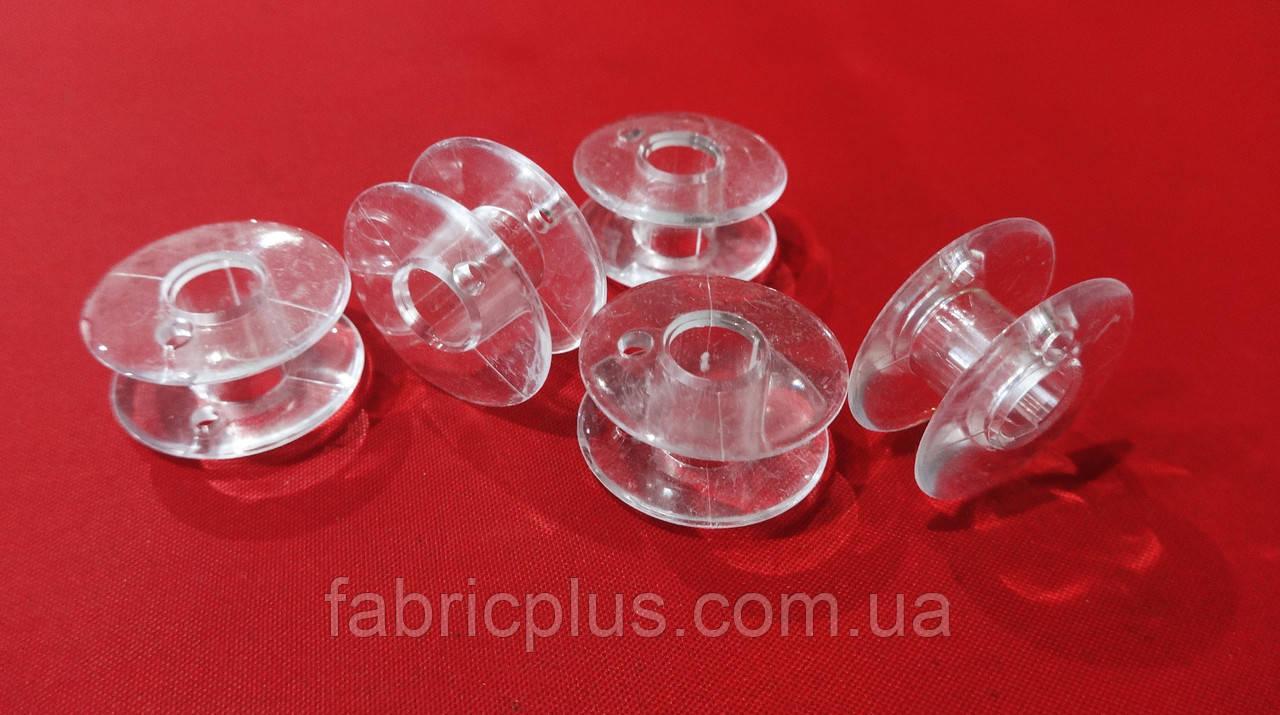 Шпулька пластиковая 7 мм прозрачная