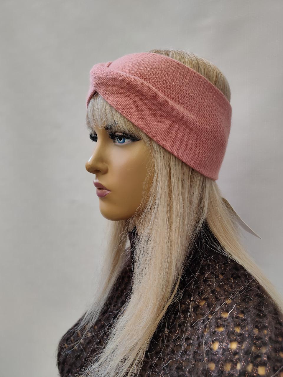 Повязка на голову из шерсти  ODYSSEY 46446 персик