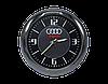 """Часы в автомобиль, темный хром """"Vihicle clock""""  с логотипом AUDI, фото 3"""