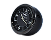 """Часы в автомобиль, темный хром """"Vihicle clock""""  с логотипом INFINITY, фото 2"""