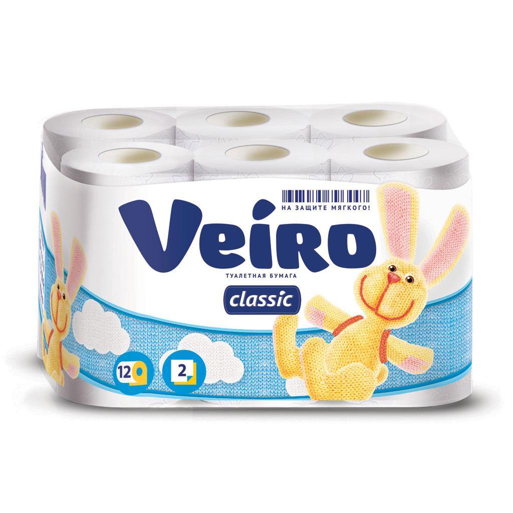 Туалетная бумага Veiro Classic, белый