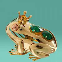 """Фигурка """"Царевна лягушка"""" с кристаллами и стразами Сваровски (белые кристаллы)"""