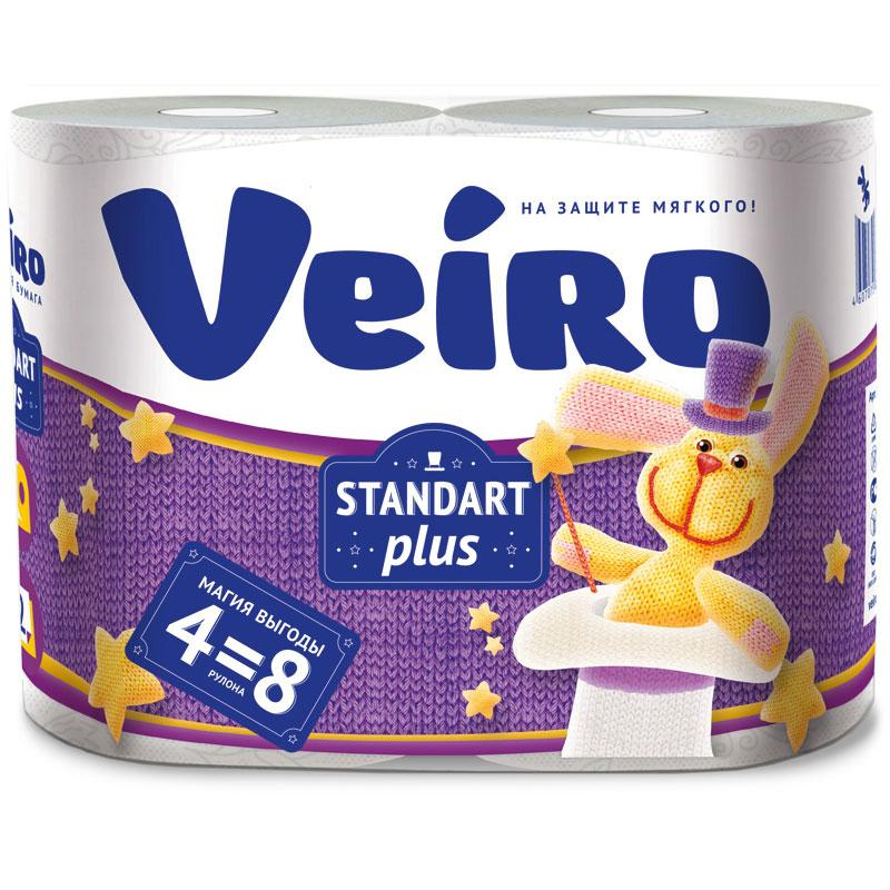 Туалетная бумага Veiro Standart Plus, белый