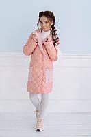Теплое осеннее стеганое пальто - куртка для девочки