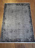 Серый ковер из бананового шелка с современным рисунком, фото 4