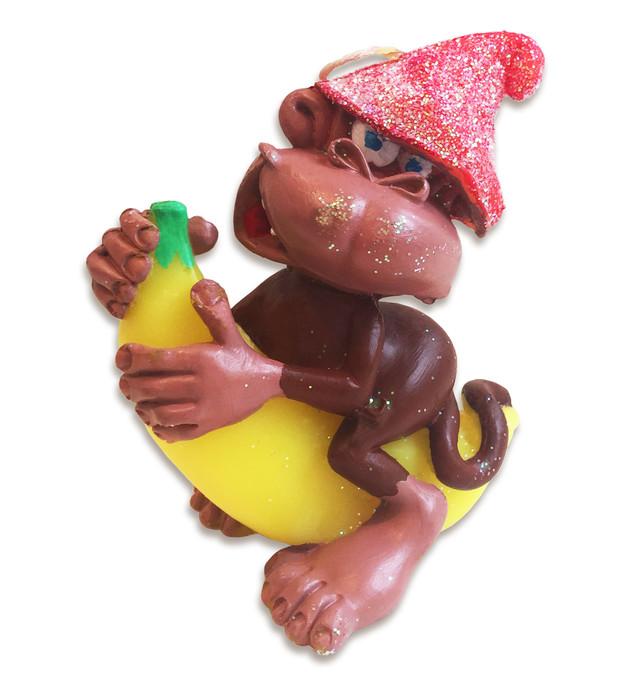 новогодняя свеча обезьянка