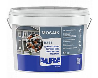 Штукатурка кварцевая AURA LUX PRO MOZAIK M15 мозаичная (зерно 1,5 мм) B241 15кг