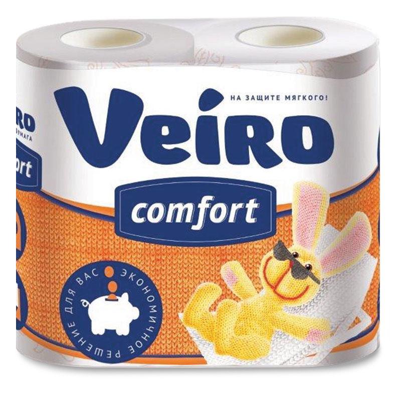 Туалетная бумага Veiro Comfort, с рисунком