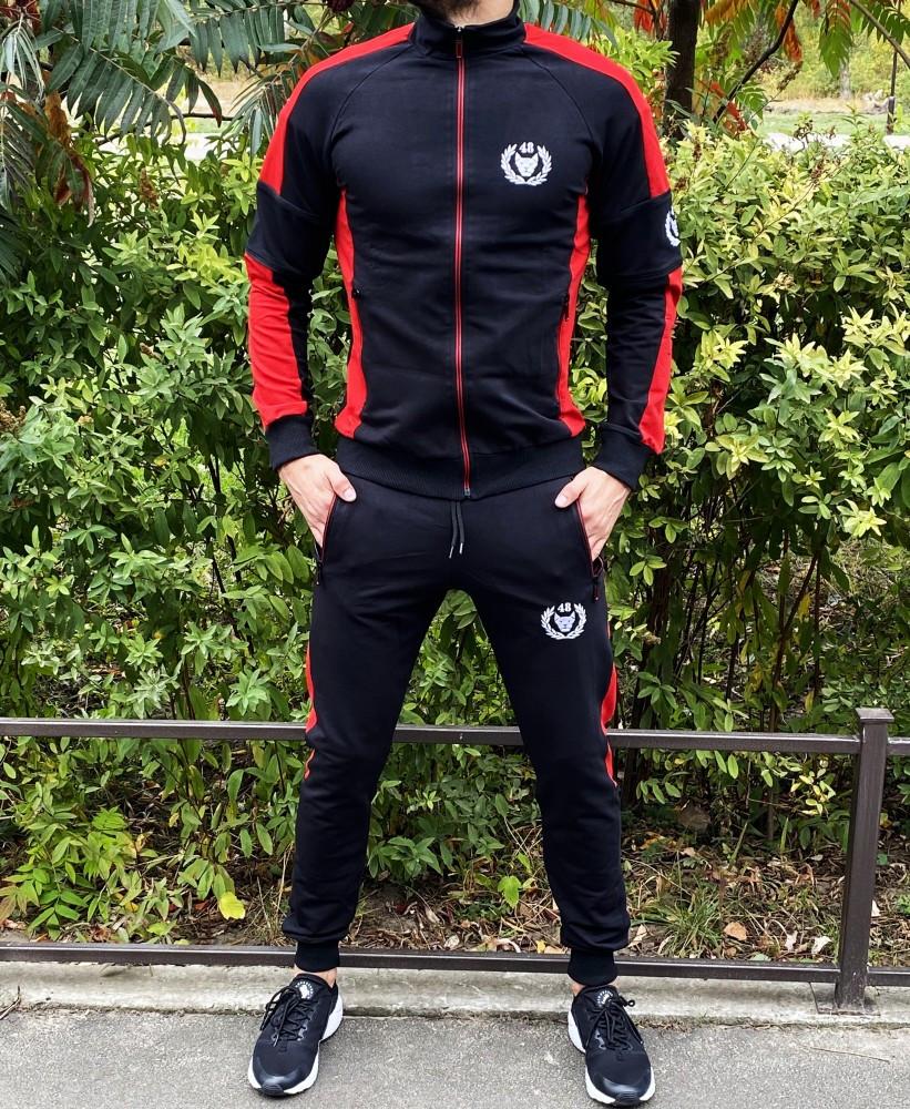 Мужской спортивный костюм Miracle Triangle 21730 черно-красный