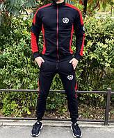 Мужской спортивный костюм Miracle Triangle 21730 черно-красный, фото 1