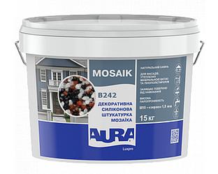 Штукатурка кварцевая AURA LUX PRO MOZAIK M15 мозаичная (зерно 1,5 мм) B242 15кг