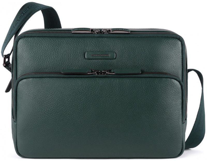 Мужская кожаная сумка Piquadro Modus Restyling, зеленая