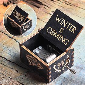 "Шкатулка музикальна, ""Гра Престолів"", чорна, Шкатулка ""Winter Coming"""