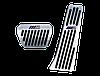 Накладки на педали BMW в стиле ///M (алюминий,  толстый газ), фото 2