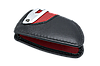 Оригинальный кожаный чехол футляр для  ключа BMW со стальным зажимом, цвет Red, фото 3