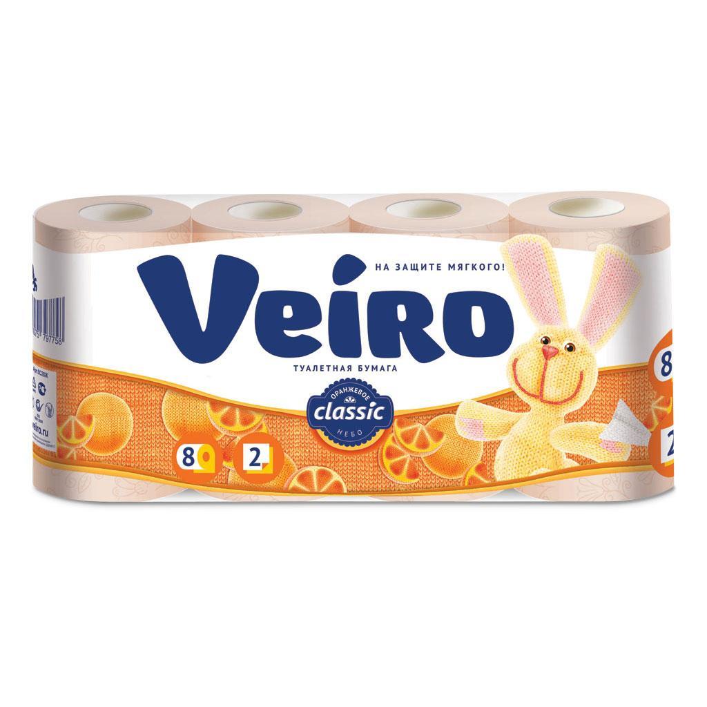 Туалетний папір Veiro Classic, пастель