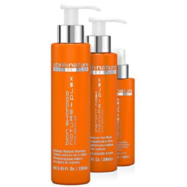 Набор для восстановления волос Abril Et Nature Nature-Plex Stop-Breakage (Шамп 250мл+маск 200мл+сыв-ка 100мл)