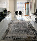 Современный серый ковер из шелка для современных интерьеров хайтек и лофт, фото 2