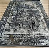 Современный серый ковер из шелка для современных интерьеров хайтек и лофт, фото 5