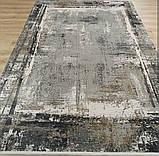Современный серый ковер из шелка для современных интерьеров хайтек и лофт, фото 6
