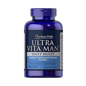 Вітаміни для чоловіків Puritan's Pride Ultra Vita Man Time Release (90 таб) пуританс прайд