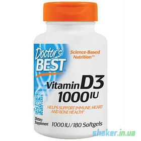 Вітамін д3 Doctor's s BEST Vitamin D3 1000 IU (180 кап) доктор бест