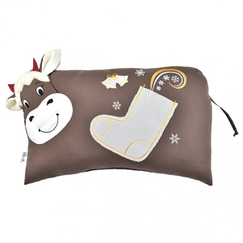 Декоративна подушка-іграшка 35 х 50 Корівка, шоколад.
