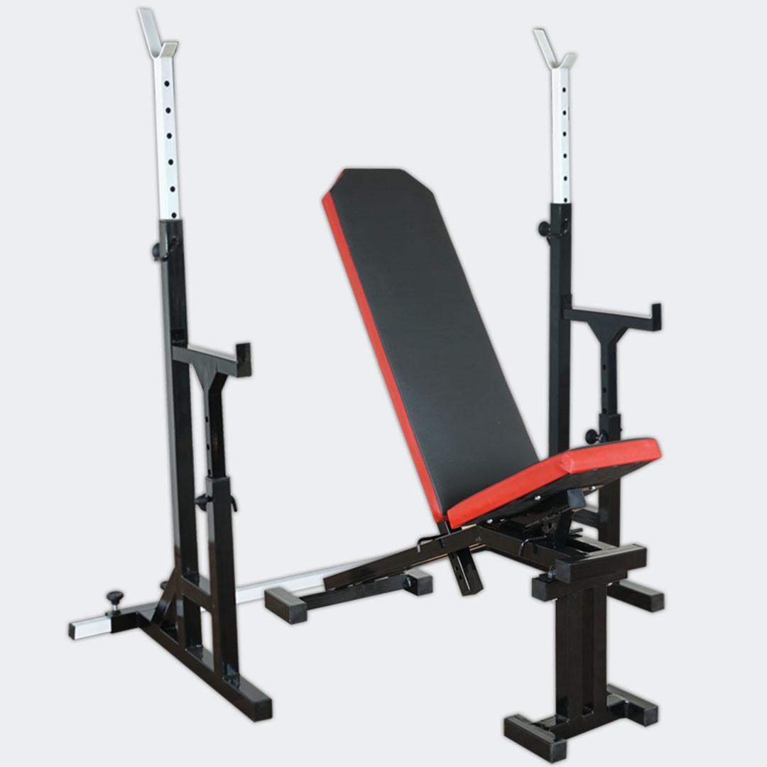 Лава для жиму регульована до 300 кг + стійки зі страховкою 200 кг