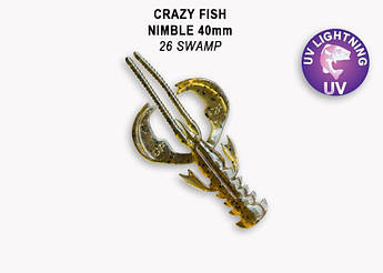 """Съедобный силикон Crazy Fish Nimble 1.6"""" 49-40-26-6 кальмар"""