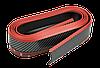 Спойлер губа бампера автомобіля карбон гумовий Samurai / КАРБОН з червоною смугою, фото 2