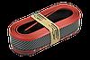 Спойлер губа бампера автомобіля карбон гумовий Samurai / КАРБОН з червоною смугою, фото 3