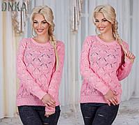 Женский свитер вязка