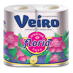 Туалетний папір Veiro Floria, з ароматом півонії