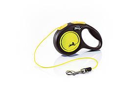 Flexi Neon XS трос 3 м до 8 кг повідець-рулетка для собак