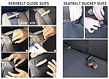 Універсальні чохли на сидіння авто повний комлект Червоний колір, фото 7