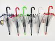 Прозорий посилений напівавтомат зонт трость антиветер з посиленими спицями, фото 5