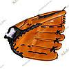 Перчатка-ловушка для бейсбола, (лапа), оранжевая