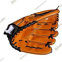 Перчатка-ловушка для бейсбола, (лапа), оранжевая, фото 1