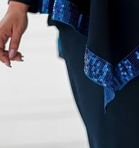 Стильный костюм-тройка батал с накидкой Украина Размеры: 54-56, 58-60, фото 2