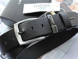 Брендовый кожаный ремень Lacoste 21743 черный, фото 2