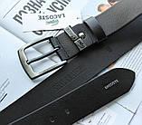 Брендовый кожаный ремень Lacoste 21743 черный, фото 4