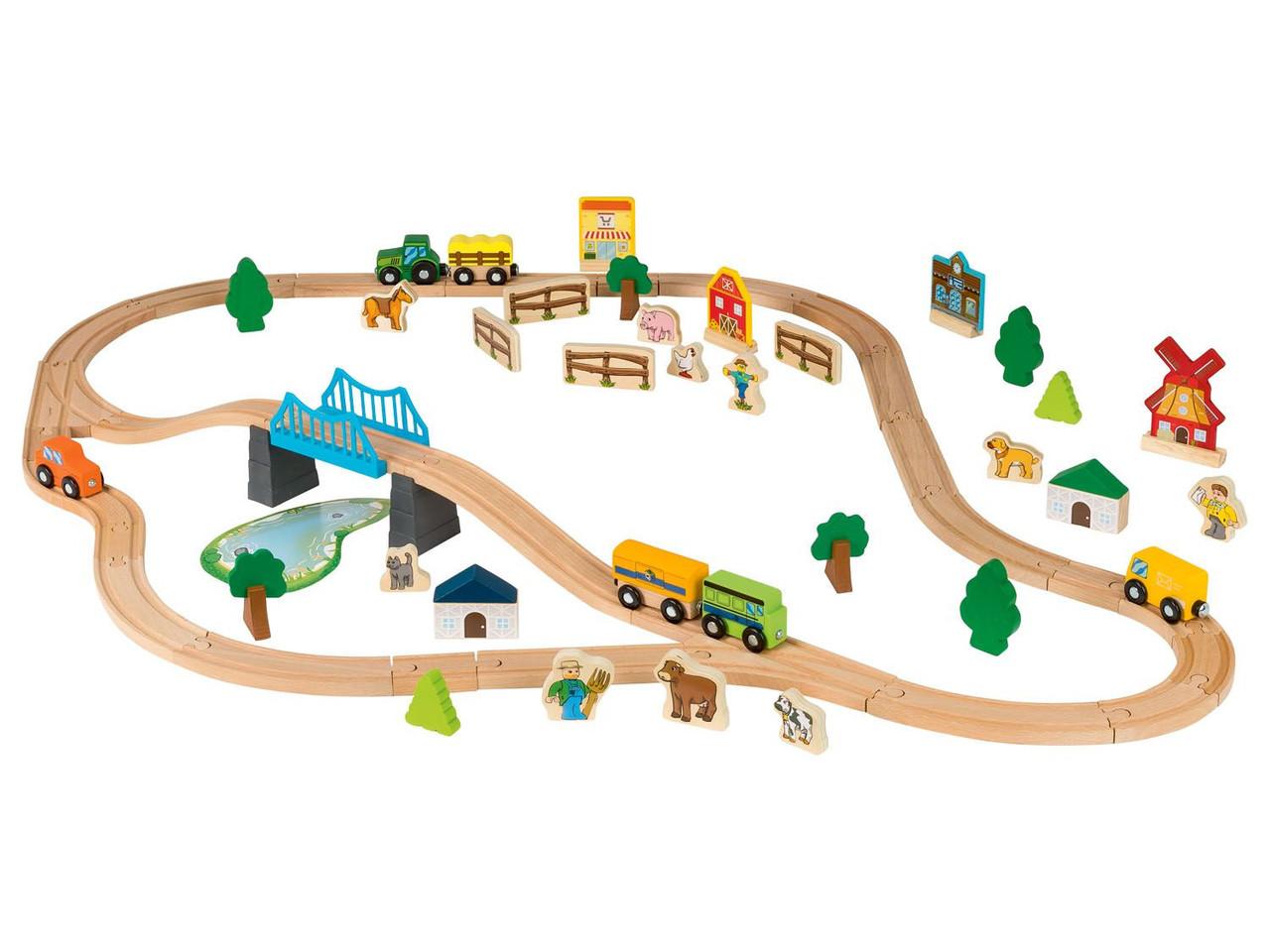 Дерев'яна залізниця Playtive Farm 69 ел. Німеччина