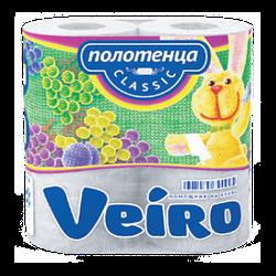 Паперові рушники кухонні Veiro Classic, білий, 2-сл.